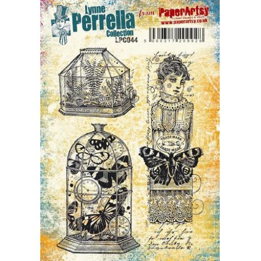 PaperArtsy - Lynne Perrella LPC044 (A5 set, cling-foam trimmed)