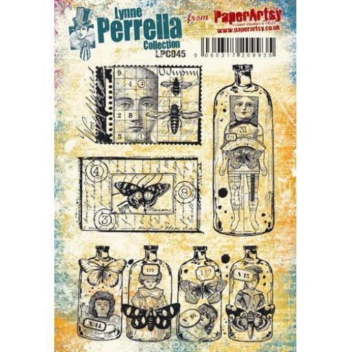 PaperArtsy - Lynne Perrella LPC045 (A5 set, cling-foam trimmed)