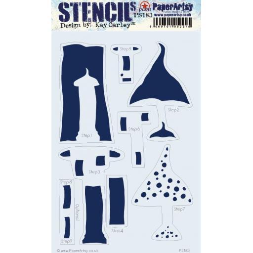 PaperArtsy - PA Stencil 183 Large {EKC} Pre Order