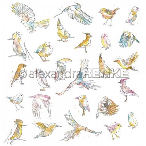 alexandraRENKE Designpaper 'Paradise birds' 10.1722