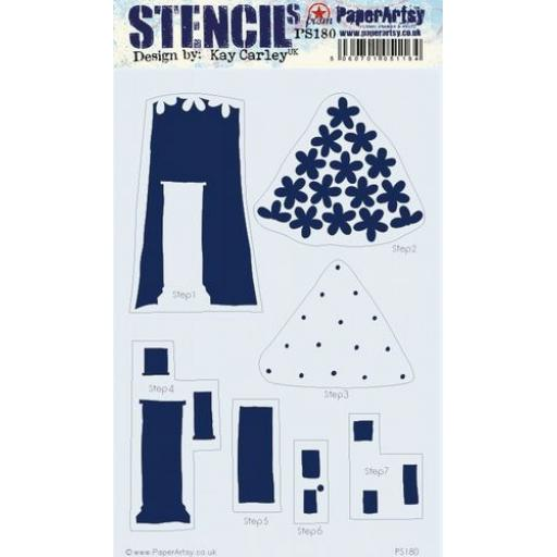 PaperArtsy - PA Stencil 180 Large {EKC}