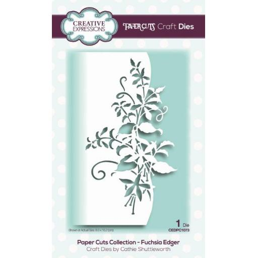 Creative Expressions -Paper Cuts Collection -Fuchsia Edger