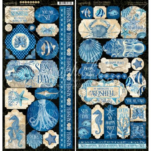 Graphic 45 - Ocean Blue -Ocean Blue Stickers
