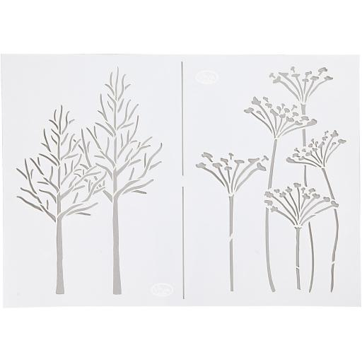 Stencil , A4 21x30 cm, , autumn