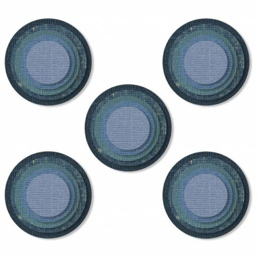 Sizzix Thinlits Die Set 25PK – Stacked Tiles, Circles Item: 664437 by Tim Holtz