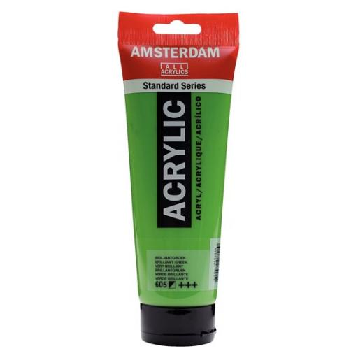 Talens Amsterdam Standard Acrylic Paint-120ml - Brilliant Green 605