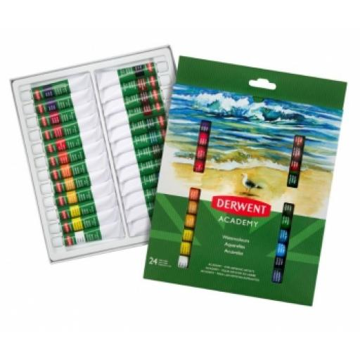 DERWENT Academy Watercolours 24 x 12ml