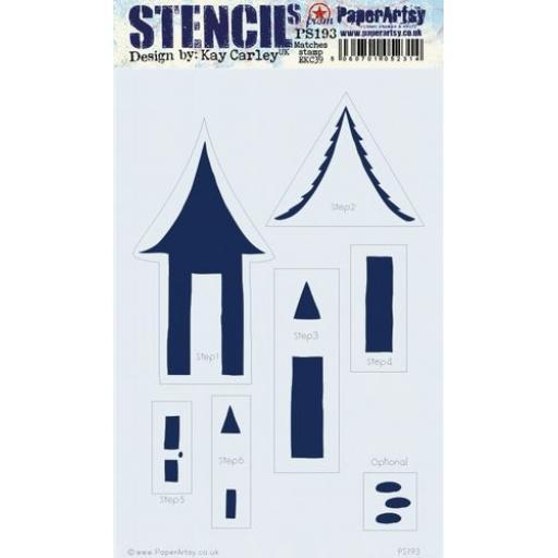 PaperArtsy - PA Stencil 193 Large {EKC}