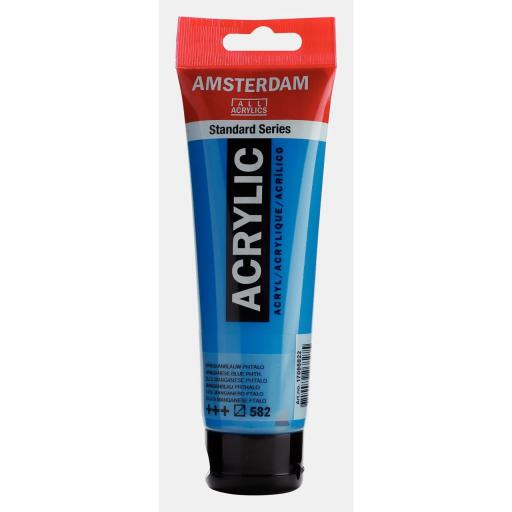 Talens Amsterdam Standard Acrylic Paint-120ml - Manganese Blue Phthalo 582