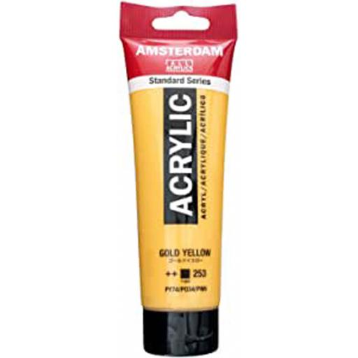 Talens Amsterdam Standard Acrylic Paint-120ml - Gold Yellow 253