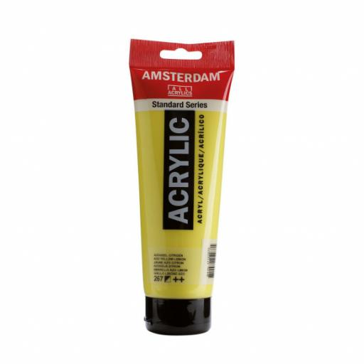 Talens Amsterdam Standard Acrylic Paint-120ml - Azo Yellow Lemon 267