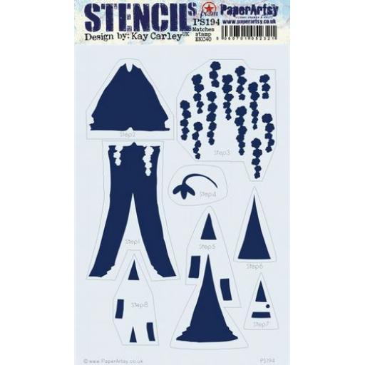PaperArtsy - PA Stencil 194 Large {EKC}