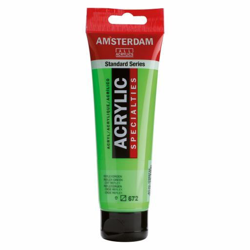Talens Amsterdam Standard Acrylic Paint-120ml - Reflex Green 672