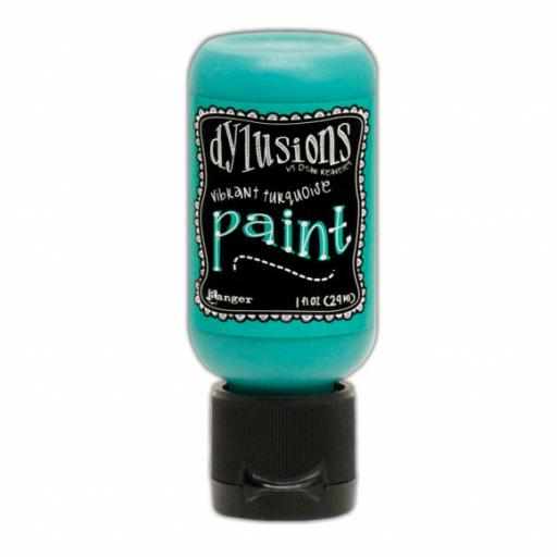 Dylusions Flip cup paint 29ml Vibrant turquoise