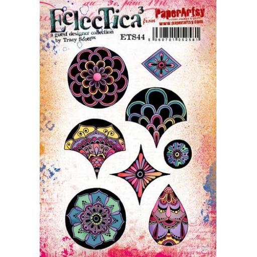 PaperArtsy - E³ Tracy Scott 44 (A5 set, trimmed, on EZ)