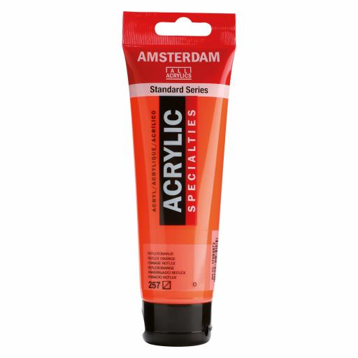 Talens Amsterdam Standard Acrylic Paint-120ml - Reflex Orange 257