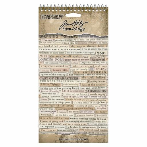 Tim Holtz Idea-ology - Clippings Sticker Book