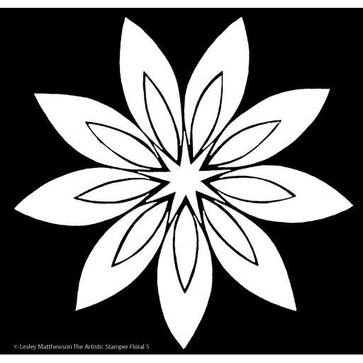 The Artistic Stamper Floral 5 Stencil © Lesley Matthewson