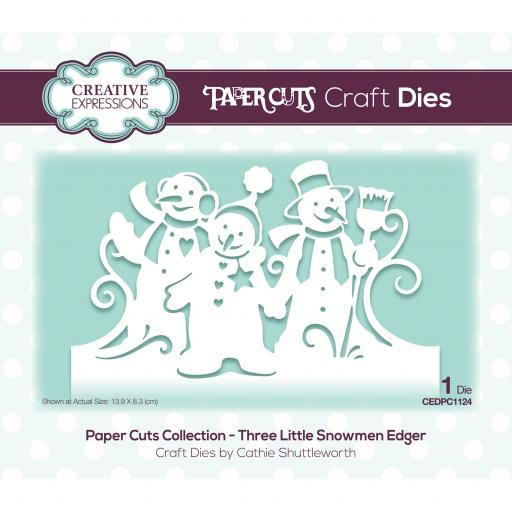 Creative Expressions Paper Cuts Three Little Snowmen Edger Craft Die