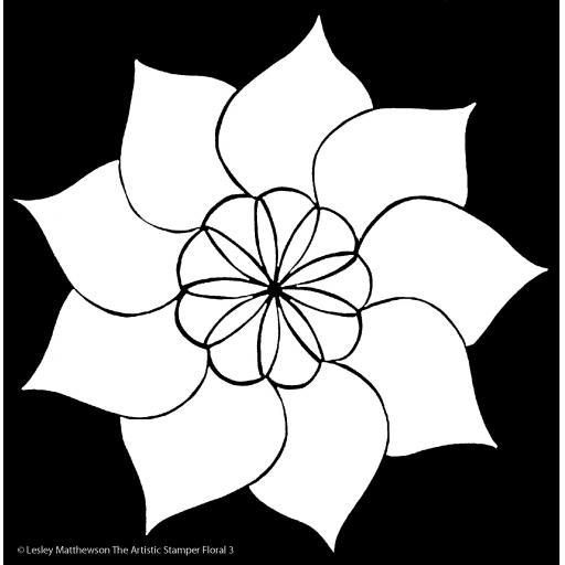 The Artistic Stamper Floral 3 Stencil © Lesley Matthewson