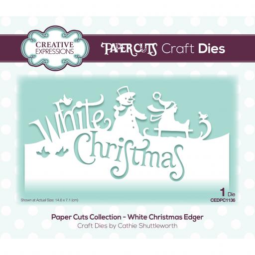 Creative Expressions Paper Cuts Edger White Christmas Craft Die