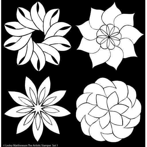 The Artistic Stamper Floral Set 1 Stencil © Lesley Matthewson