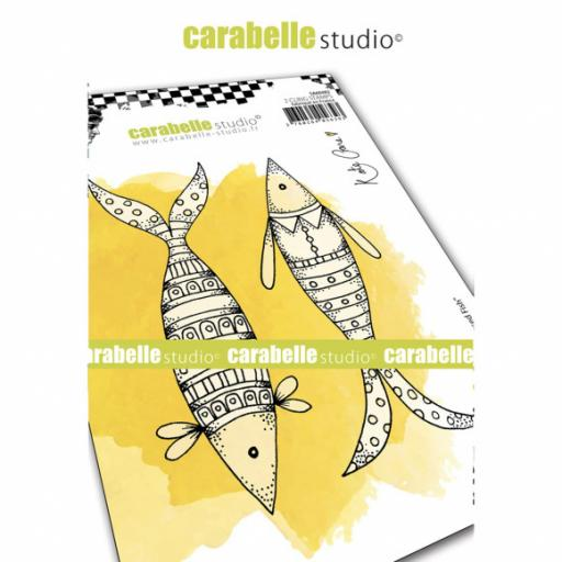Carabelle Studio • Kate Crane Well Dressed Fish Cling stamp A6