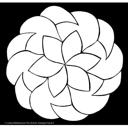 The Artistic Stamper Floral 4 Stencil © Lesley Matthewson