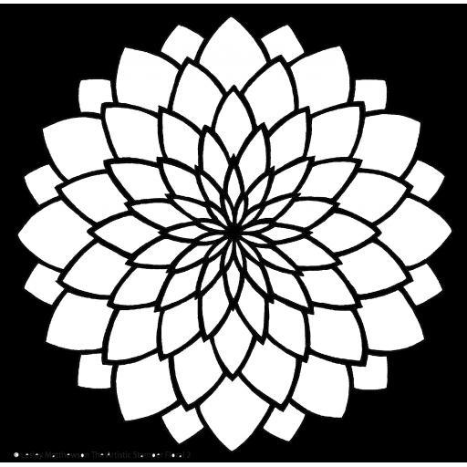 The Artistic Stamper Floral 2 Stencil © Lesley Matthewson