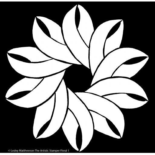 The Artistic Stamper Floral 1 Stencil © Lesley Matthewson