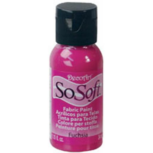 DecoArt SoSoft Fabric Paint - Fuchsia