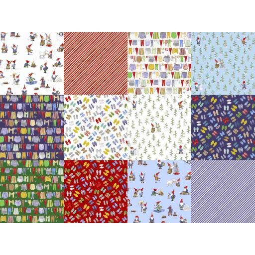 Winter Gnomes by Striped Pear Studio x Fat Quarter Bundle