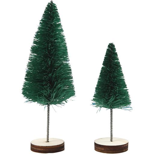 Christmas Spruce Trees, 40+60 mm, Green, 5 pc