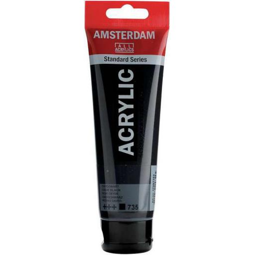 Talens Amsterdam Standard Acrylic Paint-120ml - Oxide Black 735