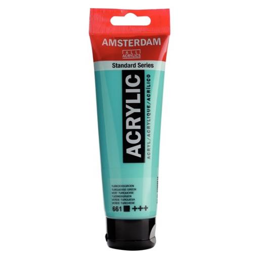 Talens Amsterdam Standard Acrylic Paint-120ml - Turquoise Green 661