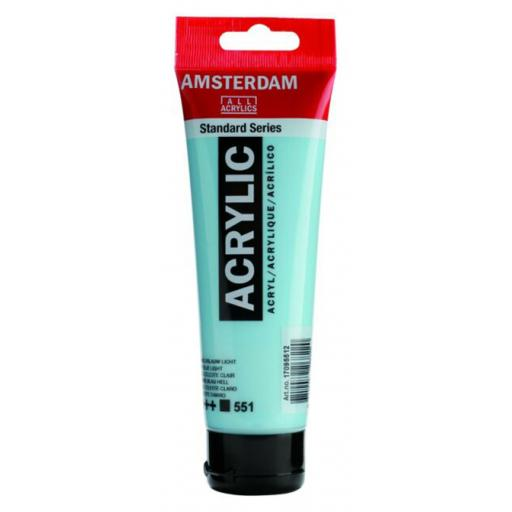 Talens Amsterdam Standard Acrylic Paint-120ml - Sky Blue Light 551