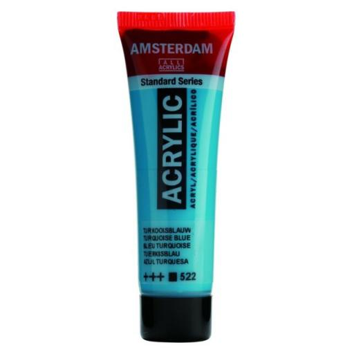 Talens Amsterdam Standard Acrylic Paint-120ml - Turquoise Blue 522