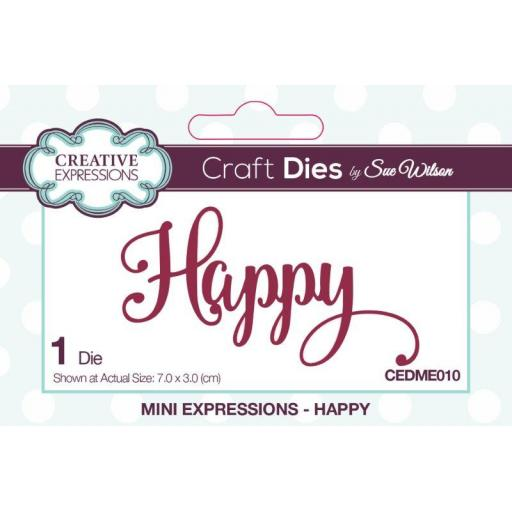 Creative Expressions Sue Wilson Mini Expressions Happy Craft Die