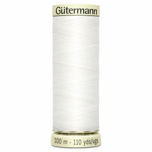 Gutermann - Sew-All Thread: 100m: White (800)