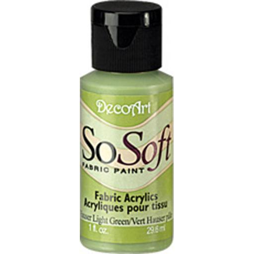 DecoArt SoSoft Fabric Paint - Hauser Light Green