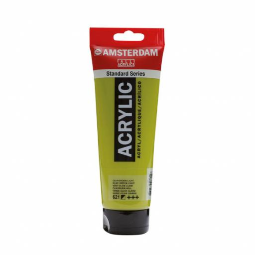 Talens Amsterdam Standard Acrylic Paint-120ml - Olive Green Light 621