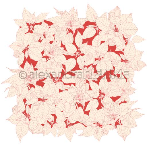 alexandraRENKE - Design paper 'Floral poinsettia red' 10.1980