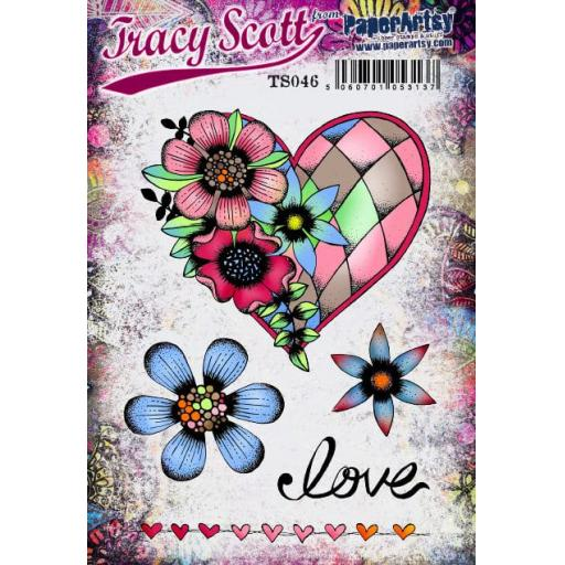 PaperArtsy - Tracy Scott 046 (A5 set, trimmed, on EZ)