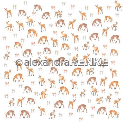 """alexandraRENKE - Design paper 12"""" x 12 """"''Floral christmas deer rapport' 10.2017"""