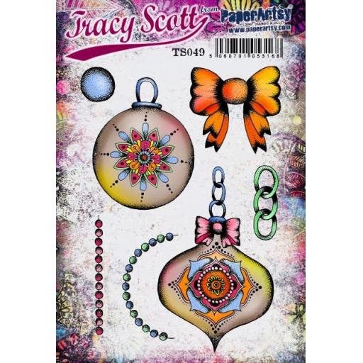 PaperArtsy - Tracy Scott 049 (A5 set, trimmed, on EZ)