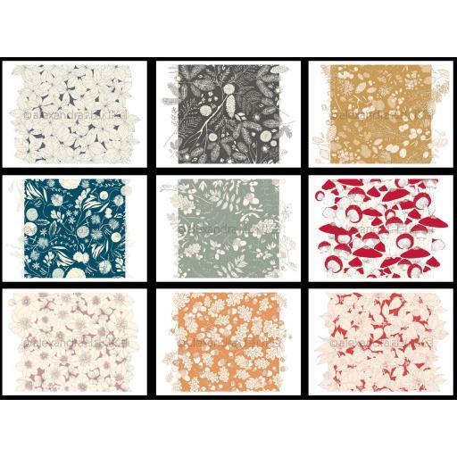 "Special Offer - alexandraRENKE - Design paper 12"" x 12"" Herbst x 9"