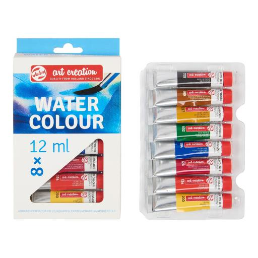 Talens Art Creation Watercolour Water Colour Set 8 x 12 ml