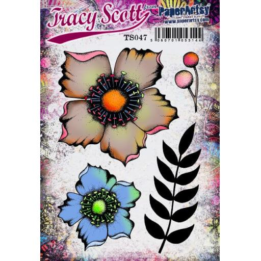 PaperArtsy - Tracy Scott 047 (A5 set, trimmed, on EZ)