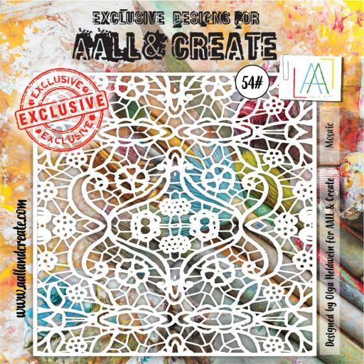 Aall & Create Stencil 6 x 6 #54