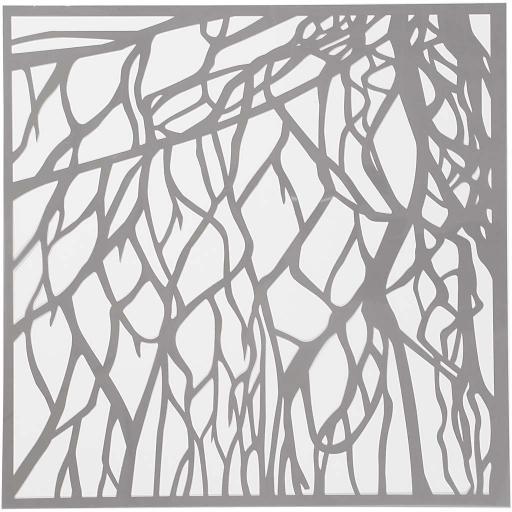 Stencil, Root, 30.5 x 30.5 cm